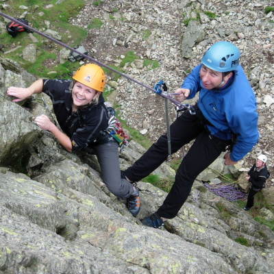 Learning to Lead rock climbing