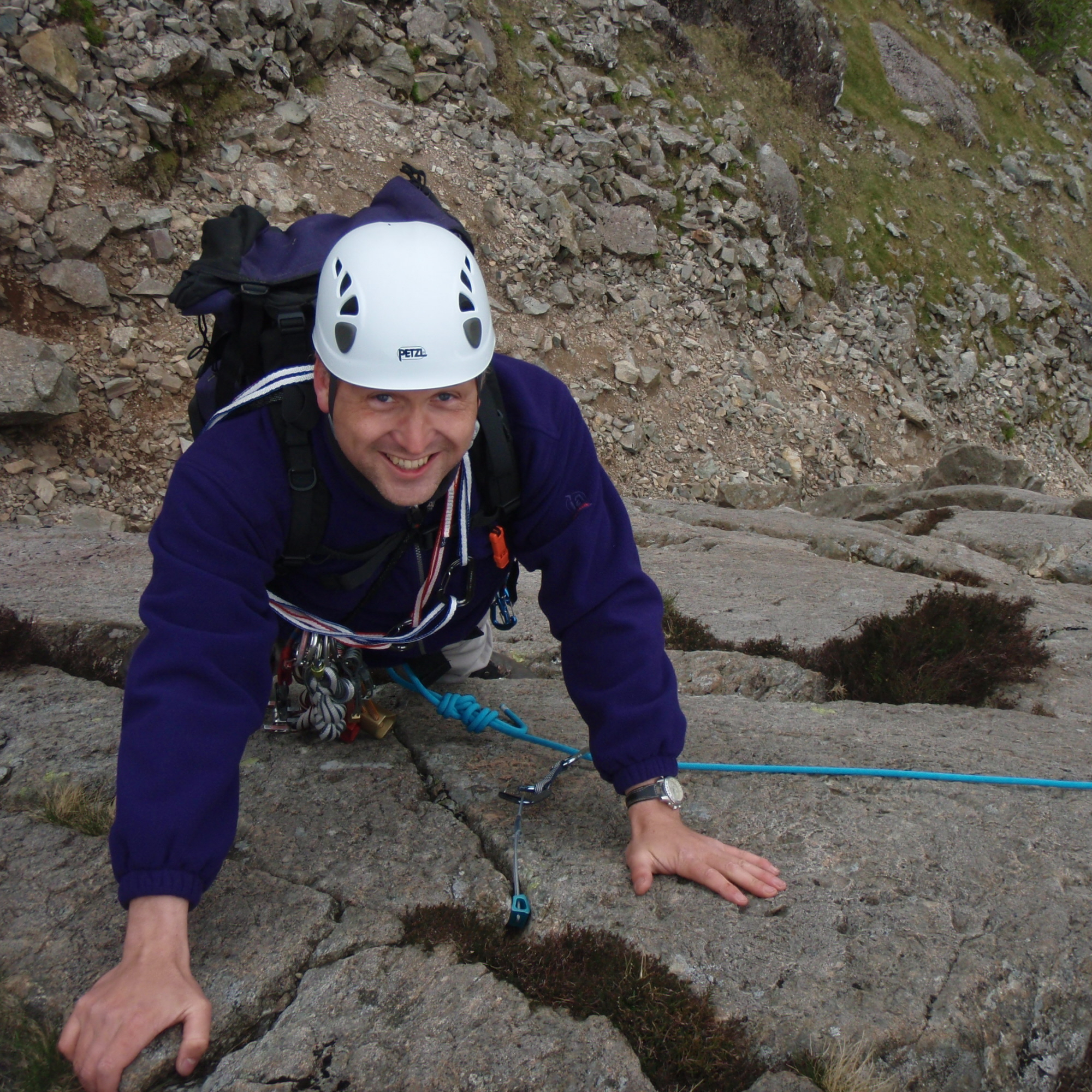Rope work for scrambling courses Lake District