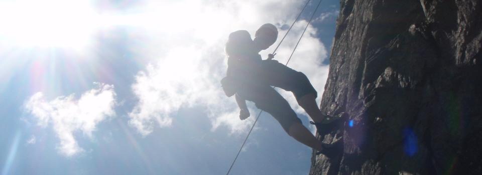 Beginners rock climbing Lake District