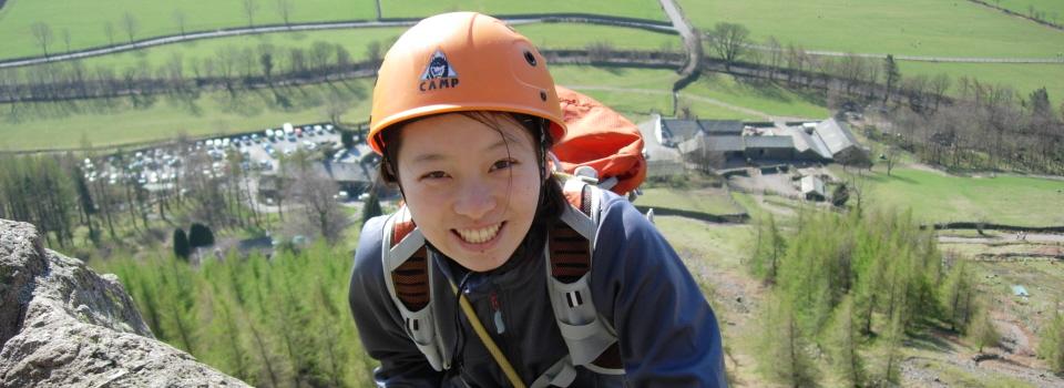 Beginners rock climbing course Lake District