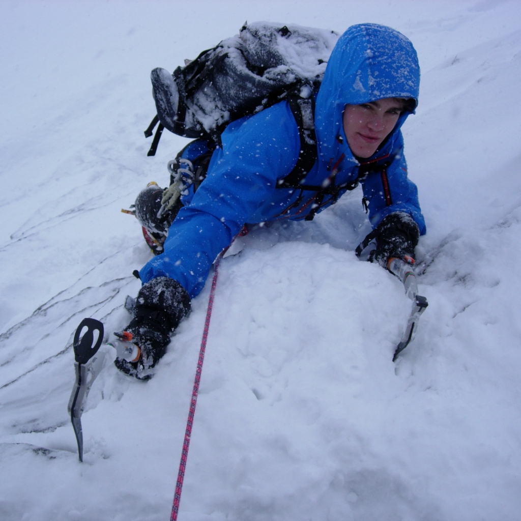 Advanced winter climbing course