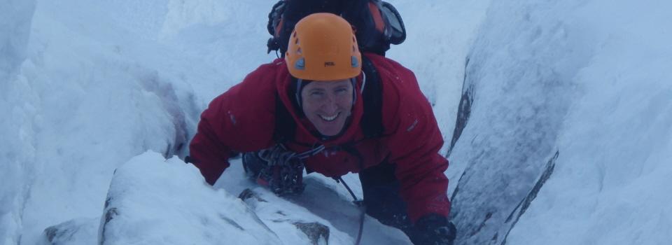 Ice climbing course
