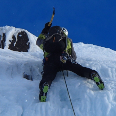 Ice climbing winter mountaineering