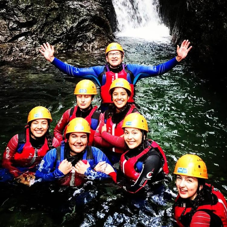 Church beck canyoning