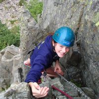 Rock climbing abseiling Lake District